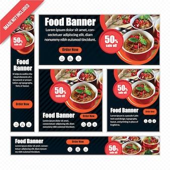 Food web banner se dla restauracji