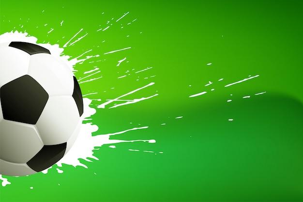 Footbal; lub piłka nożna zielone tło z miejscem na tekst