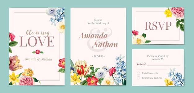 Foral stylizowany szablon zaproszenia