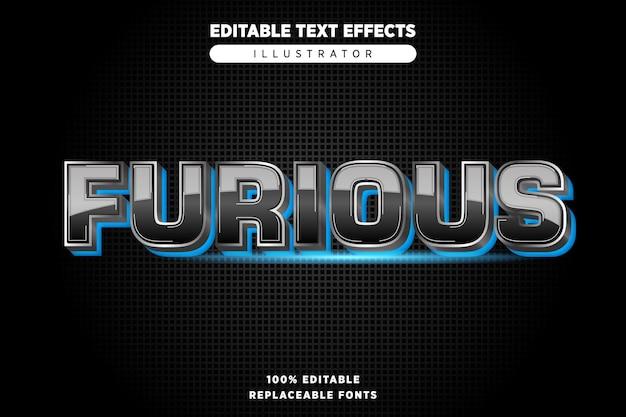 Forious efekt tekstowy aditable
