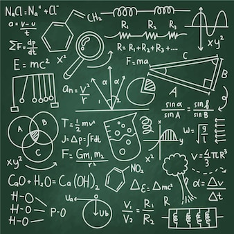 Formuły naukowe na koncepcji tablica