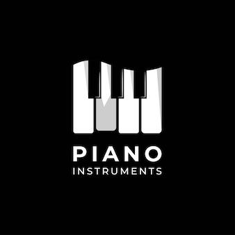 Fortepian, instrument, muzyczne logo projekt.