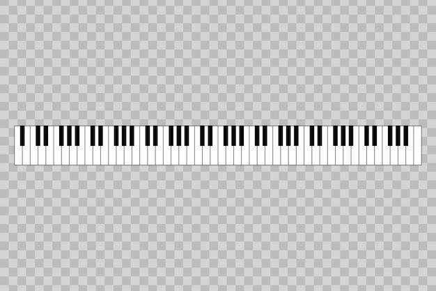 Fortepian z 88 klawiszami.