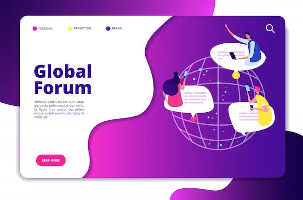 Forum internetowe. ludzie dyskusja komunikacja mobilna sieci przyjaciel przyjaciel czatowanie technologia e-mail użytkowników grupy