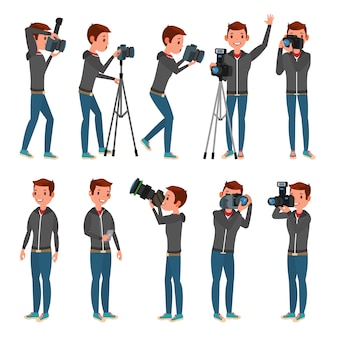 Fotograf chracter set