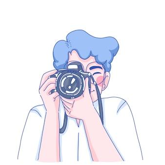 Fotograf człowiek