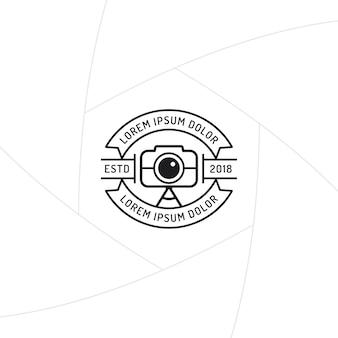 Fotograf odznaka lub projektowania etykiet