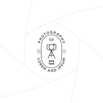 Fotograf studio znaczek lub projekt etykiety