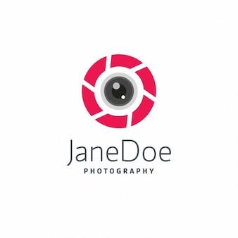 Fotografia czerwony szablon logo