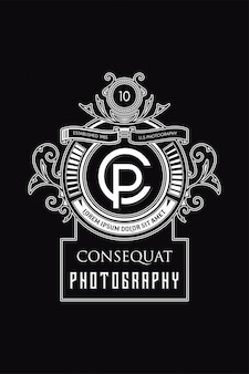 Fotografia logo monogramu cp