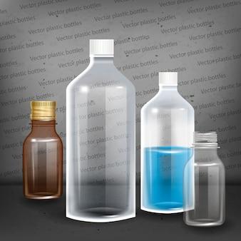 Fotografia realistyczna butelka ilustracja.
