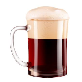 Fotorealistyczny kubek do ciemnego piwa.