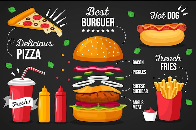 Fototapeta menu restauracji
