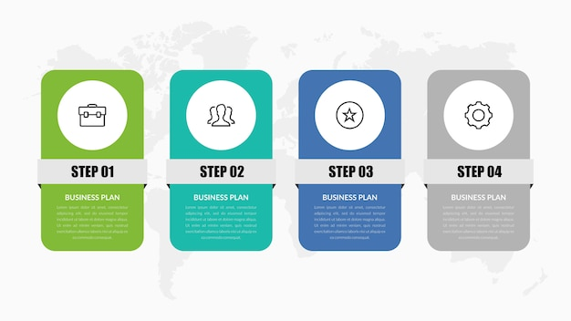 Four point infographic element for business