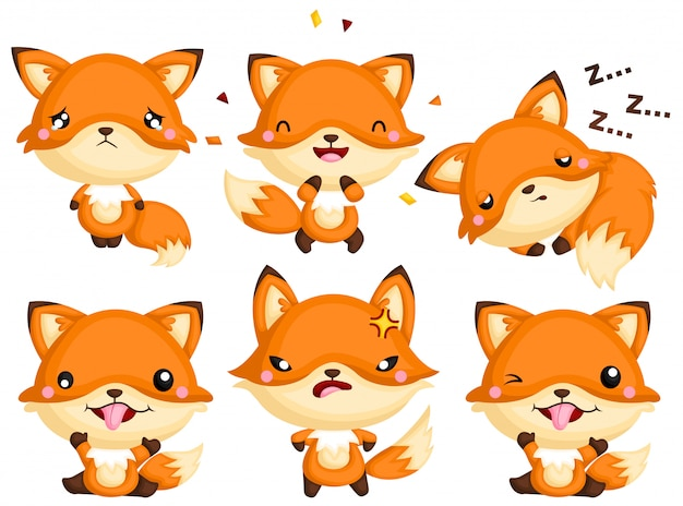 Fox emotion full body