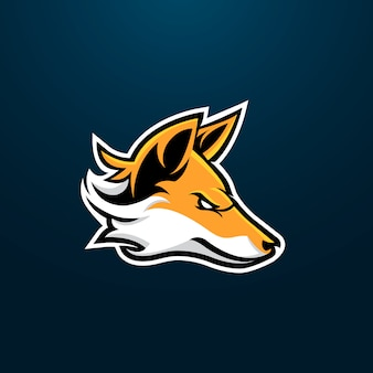 Fox esport gaming maskotka logo design