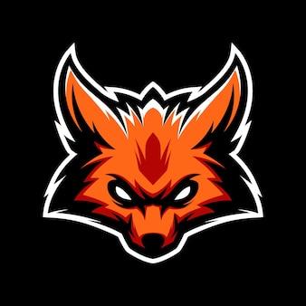 Fox headlogo gaming mascot sport szablon