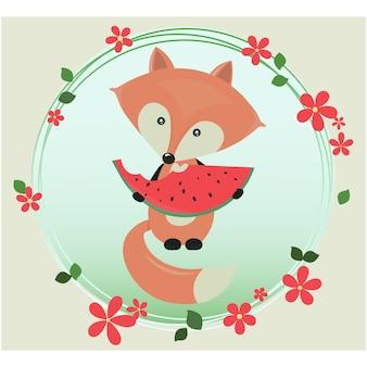 Fox wzór tła