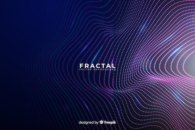 Fractal siatki fali tło