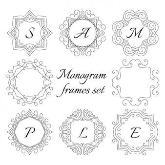 Frame set monogram