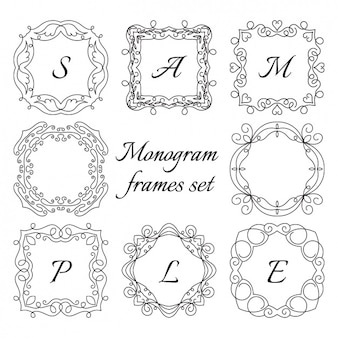 Frame set monogram