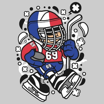 Francja hokej kid cartoon