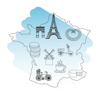 Francja mapa paryża