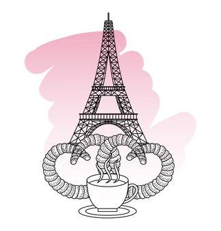 Francja paryż punkt orientacyjny