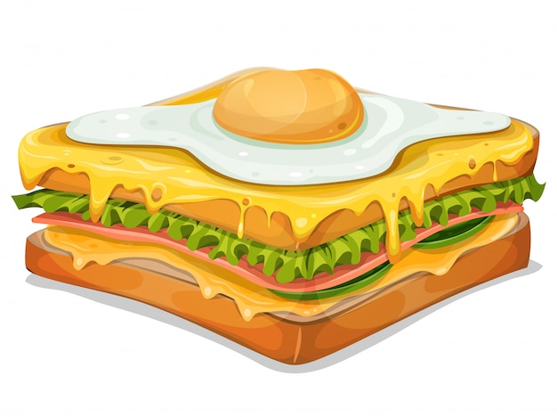 Francuska kanapka z jajkiem sadzonym