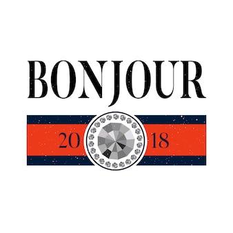 Fraza slogan bonjour