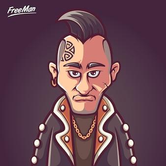 Free man punk rock music