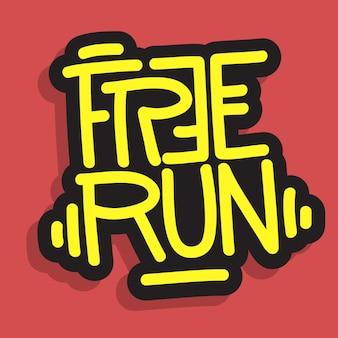 Free run brush lettering type design