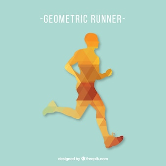 Free running man wektor