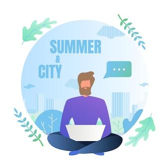 Freelancer jest w ośrodku, ale nie na wakacjach