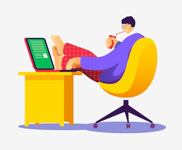 Freelancer pracujący przy komputerze.