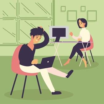 Freelancerzy korzystający z komputera