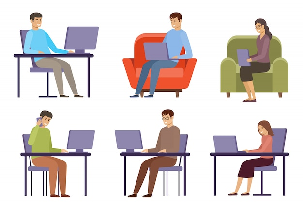 Freelancerzy pracują z domu. biznesu online. praca na odległość