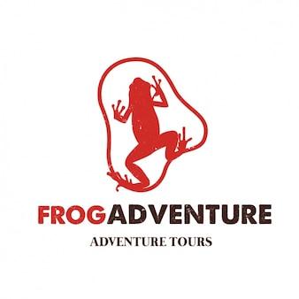 Frog kształt logo szablonu