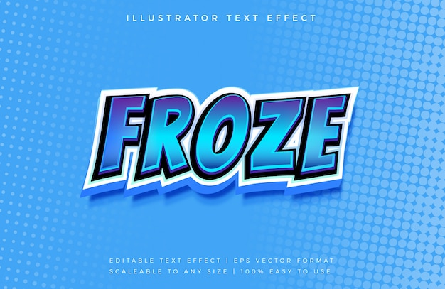 Froze comic 3d text style style font effect