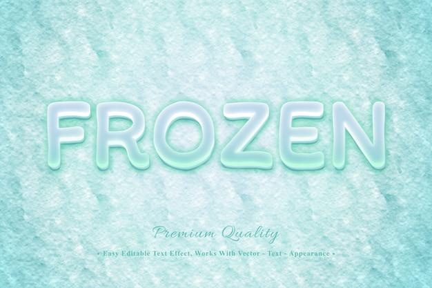 Frozen 3d łatwy do edycji efekt czcionki