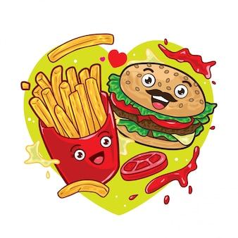 Frytki i hamburger