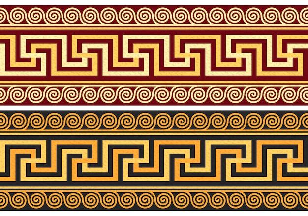 Fryz z greckim ornamentem (meander)