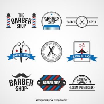 Fryzjera logo szablony