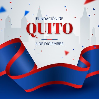 Fundación de quito tło z konfetti