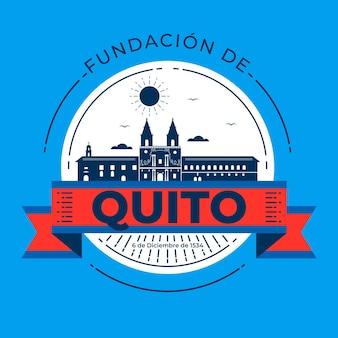Fundacion de quito z punktem orientacyjnym