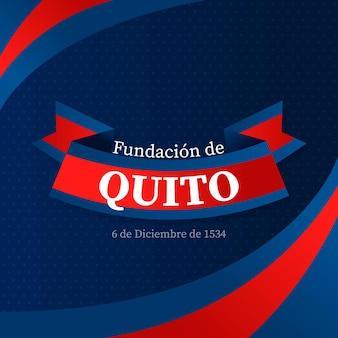 Fundación De Quito Ze Wstążką Darmowych Wektorów