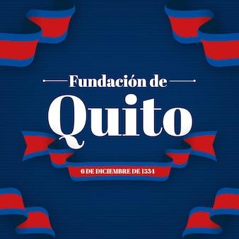 Fundacion De Quito Ze Wstążką Darmowych Wektorów