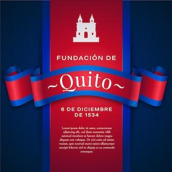 Fundacja de quito i biały kształt zamku
