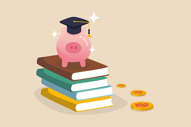 Fundusz edukacyjny, zbieraj pieniądze na ilustrację szkolną