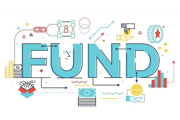 Fundusz ilustracja napis słowo